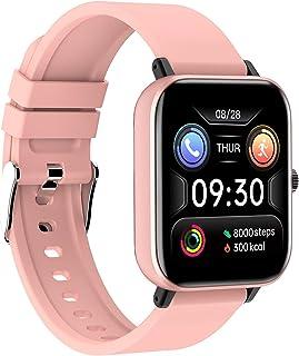 LTDD Relojes inteligentes de fitness para hombre y mujer con monitoreo de frecuencia cardíaca y presión arterial, impermeable IP67, pantalla táctil