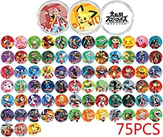 RAFA store amiibo NFC Mini Game Cards for Super Smash Bros Ultimate Nintendo Switch 75pcs with Cards Holder