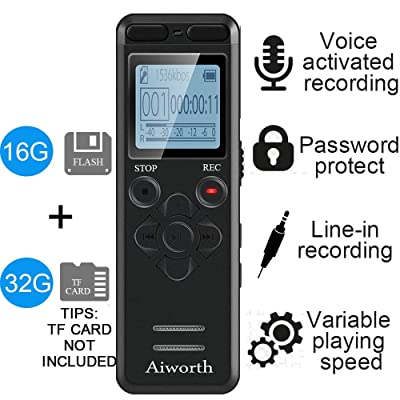 16GB Digital Voice Activated Recorder for Lectu...