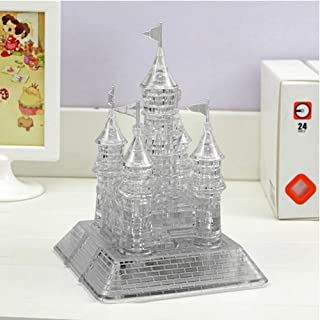 Little Bado 3D Crystal Puzzle Cute Castle Model DIY Crystal Castle Jigsaw Puzzle 105 Pieces Gadget Blocks Building Toy Gift for 8 9 10 11 12 Year Olds Kids Boys Girls Gray Castle