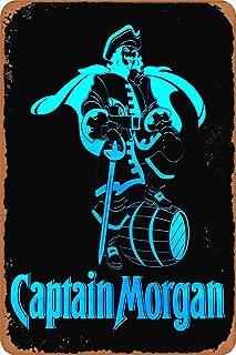 KE OU Captain Morgan Poster Tin Sign Cafe Bar Club Pub Home Decor Wall Art Sticker