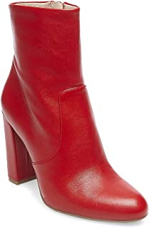 Women's Editor Ankle Boot, Red Leather, 5 M