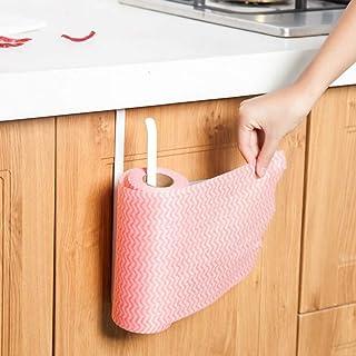 MKYXLN رف باب المطبخ حامل مناديل معلقة المرحاض لفة ورق حامل منشفة خزانة خطاف منظم تخزين