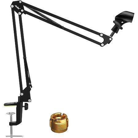 Braccio Sospensione per Microfono Moukey Kit microfono a sospensione Supporto di microfono con clip di microfono, massimo carico di 1kg per Studio di registrazione, palco, Stazione TV-MMs-1