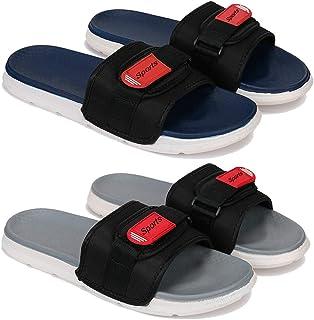 Flipflop & Slipper,Slides , Slip-On for Men Pack of 2COMBO(OR)-1607-1608