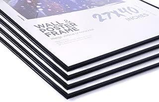 27x40 Movie Poster Frames Value Pack Deal (4 Frames) Four 27x40 Frames with Black Edges