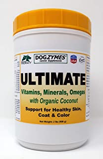 Dogzymes Ultimate Skin and Coat with Algal Oil and Organic Coconut, 2-Pound