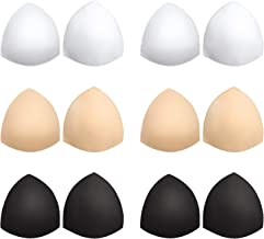 Bra Pads Inserts 6 Pairs, Bra Cups Inserts, Removable Breast Enhancers Inserts for Women (Beige, Black, White)