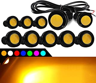 KaiDengZhe 10Pcs 18mm Eagle Eye LED Light Bulbs,DRL Fog Light 9W DC12V for Car ATV Camper Trunk Motorcycle Daytime Running...