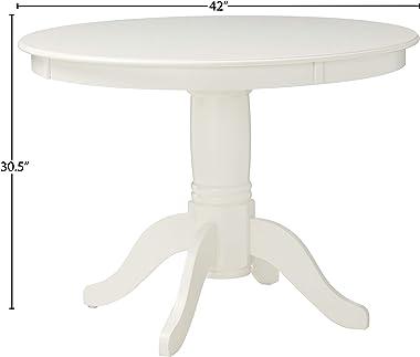 Angel Line 5 Piece Lindsey Dining Set, White/Gray