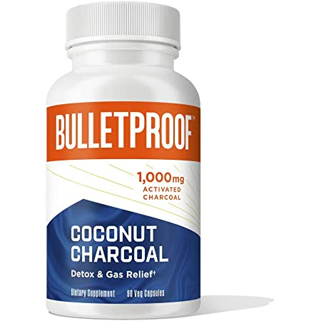 Bulletproof Activated Charcoal, 100% Coconut, Heartburn and Gas Relief, 90 Capsules