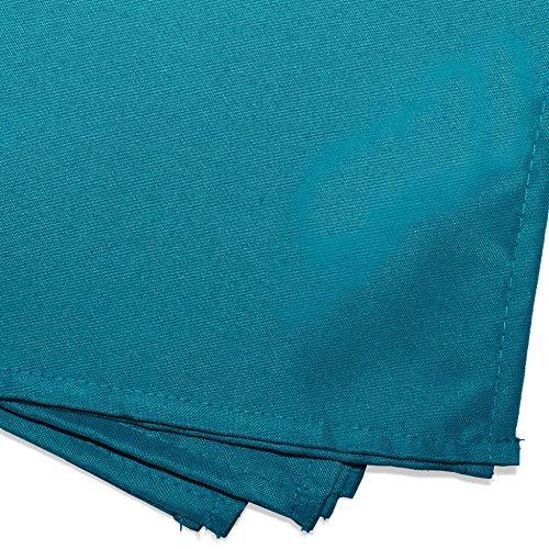 douceur d'intérieur 3 serviettes de table 40x40 cm essentiel bleu