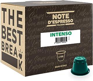 comprar comparacion Note D'Espresso Cápsulas de Café Intenso exclusivamente compatibles con cafeteras Nespresso* - 100 Unidades de 5.6g, Tota...