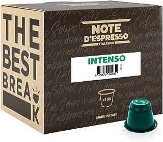 Note D'Espresso - Cápsulas de café intenso compatibles con cafeteras Nespresso, 5,6g (caja de 100 unidades)