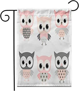 Details about  /GIRLS KIDS Owls Bows Embroidered REVERSIBLE Throw Pillow PINK GREEN WHITE NWT