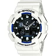 Men's XL Series G-Shock Quartz 200M WR Shock Resistant Resin Color: White (Model GA-100B-7ACR)