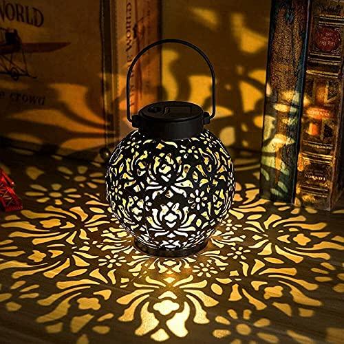 GQFGYYL Lanterne Solari per Esterni da Giardino Pensili per Cortile, Cortile Anteriore, Terrazza O Portico,001,1 Piece