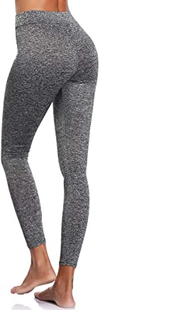 71cf34e4ca6f3f Joyshaper Workout Leggings for Women High Waist Scrunch Butt Ruched Capri  Length Yoga Pants,Push