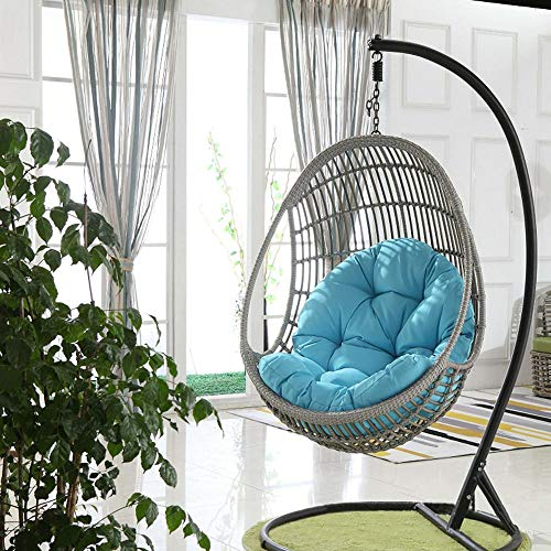 PINGFAN Hanging Basket Swing Sofa Cushion Thickening to Increase Indoor and Outdoor Cradle Chair Cushion (Color : Sky Blue)