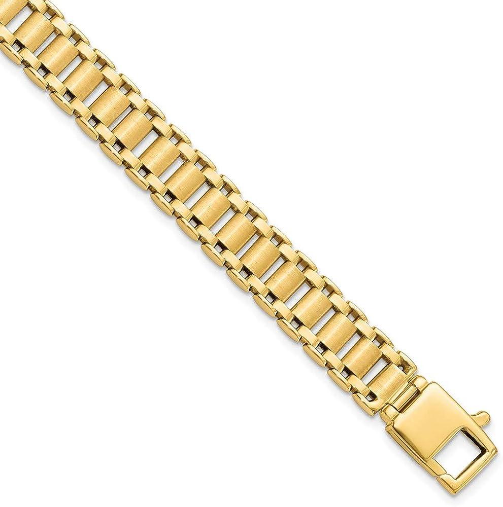 Bracelet 14K Yellow Gold bracelet Men's Polished mm Chicago Mall 8.5 in Max 44% OFF 9.5