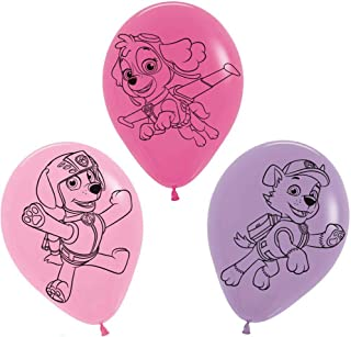 tib Paw Patrol Balloons Set Of 5 Pieces, Colour - Blue / Green, Circumference - 96 Cm, One Size, tib_19717