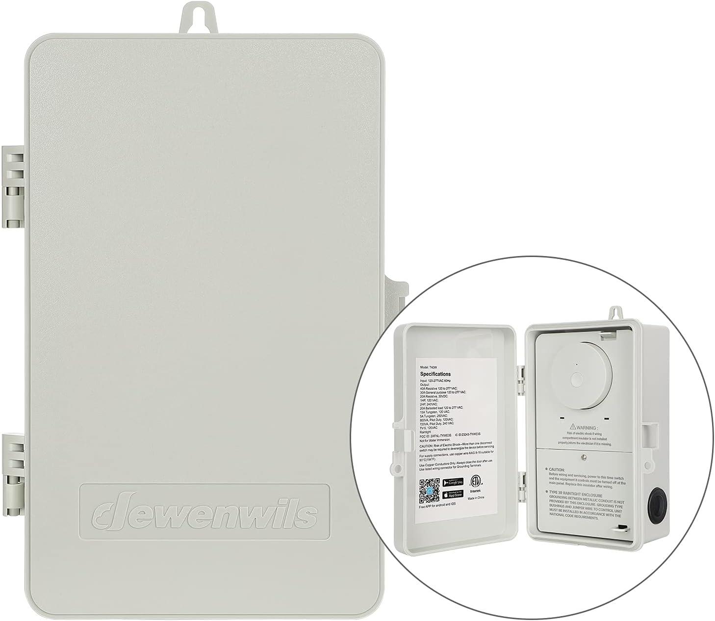 DEWENWILS Elegant Outdoor Smart Timer Box Heavy VA 40A Duty 120-277 Max 65% OFF 2HP