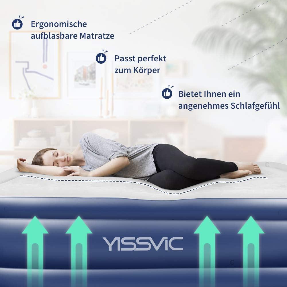 Yissvic Luftbett Luftmatratze Aufblasbare G/ästebett mit Eingebaute Elektrische Pumpe Einzelbett f/ür 1 Person 191 x 99 x 45cm