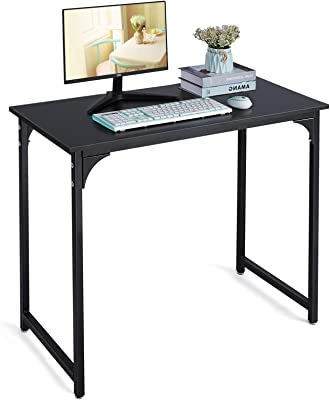 Writing Computer Desk Modern Sturdy Office Desk PC Laptop Notebook Study Table for Home Office, Black