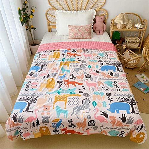 CBVG Baumwolle Kinder Jungen Mädchen Klimaanlage Zimmer Schlafdecken Wickeln Bettwäsche Quilt Babydecke für Betten 23 Design, Wie auf dem Foto, 150x200cm