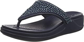 Monterey Diamante Wedge Flip Navy 5 M