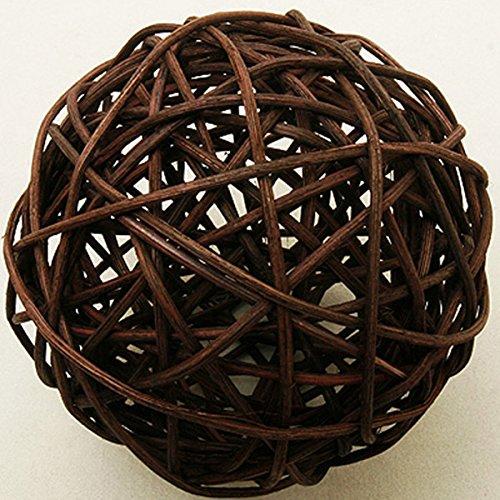 2 boules en osier marron (Dia. 6 cm) - taille - Taille Unique - 208325