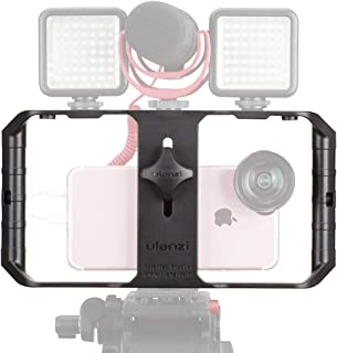 Ulanzi U Rig Pro Smartphone Video Rig, Video Stabilizer w 1/4 inch Screw Triple Cold Shoe Mount Compatible for iPhone Xs M...