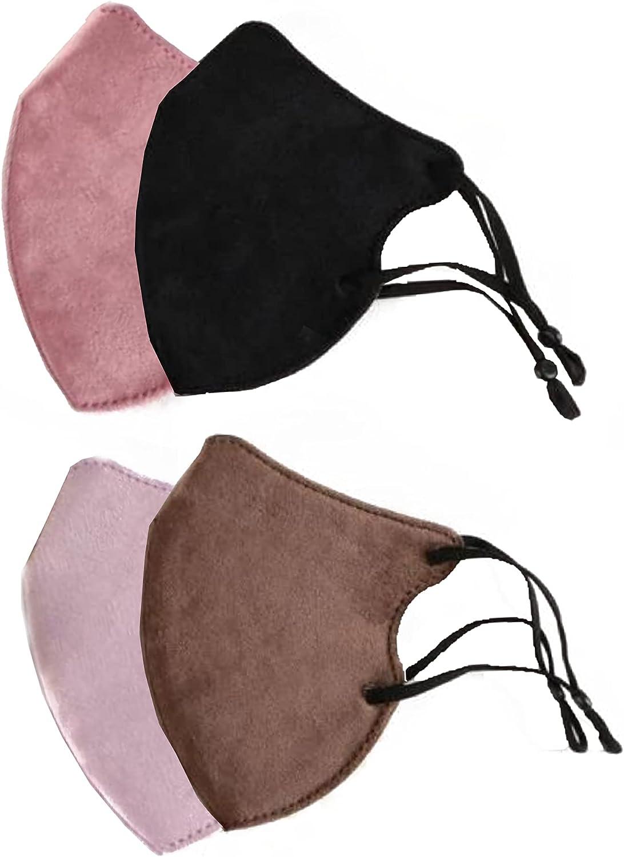 Pack 4 Mascarillas Reutilizables - Mascarillas de tela negra - mascarillas de tela mujer - mascarilla tela hombre - mascarillas elegantes Lavables - mascarillas unisex - mascarilla de tela.