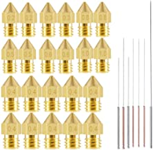 22pcs 3D Printer Nozzles,MK8 Brass Extruder Nozzle Print Head and 7pcs Cleaning Needles for 1.75mm Makerbot Creality CR-10...
