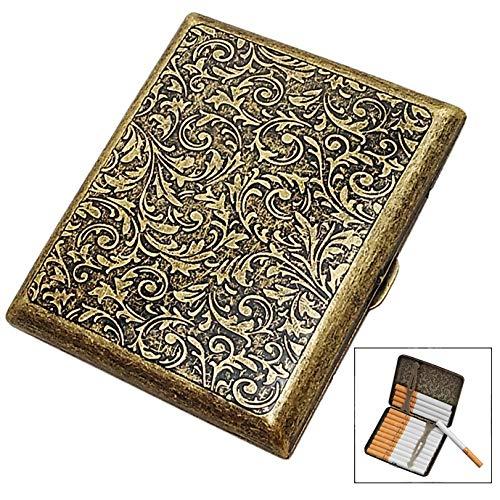 iwobi Portasigarette in Metallo,Portasigarette Vintage,Portasigarette Sigarette,per 18 Sigarette