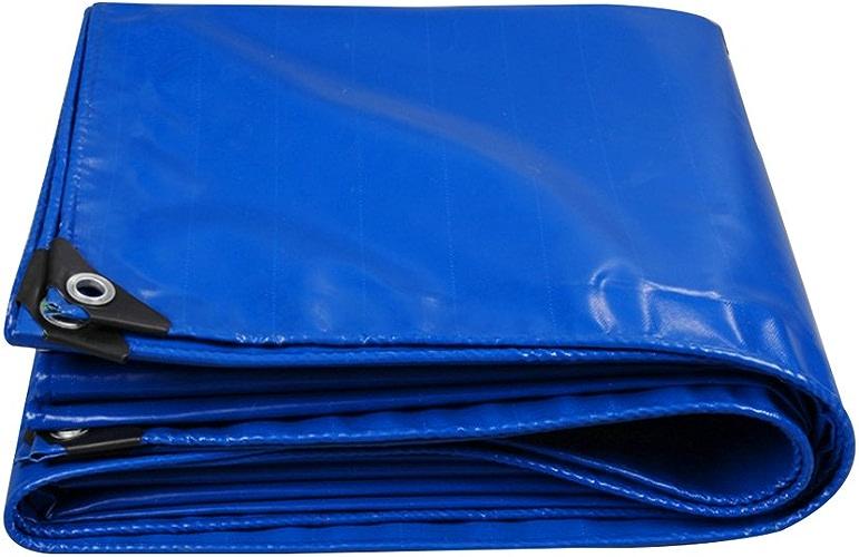 Bache Baches bleues Toile d'ombre toile de tissu de pluie Prougeection solaire imperméable puissante utilisée dans la famille de camping de Poncho Jardin extérieur, épaisseur 0.4mm, 450g   m2, 6 options