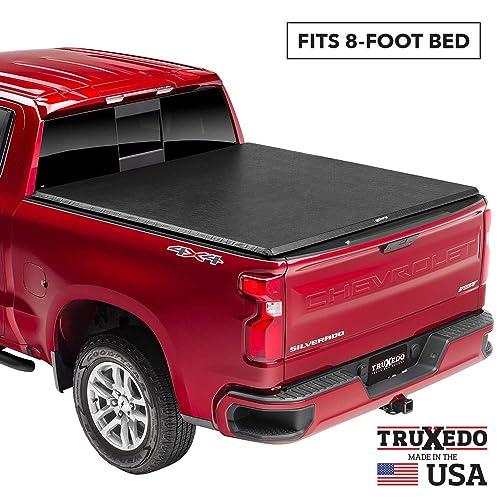 TruXedo TruXport Soft Roll Up Truck Bed Tonneau Cover   271601   fits 07-13, 2014 HD GMC Sierra & Chevrolet Silverado 1500/2500/3500 8' bed