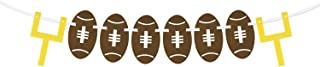 EVERMARKET American Football Burlap Banners Garland Sport Theme String Flags Decorations,Happy Birthday Party Pennant Banner for Bar,Sports Clubs,Festival,Football Party Events Decorations