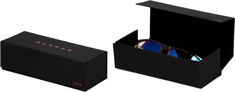Gaming Glasses | Blue Light Blocking Glasses | Intercept/Onyx by Gunnar | 98% Blue Light Protection, 100% UV Light, Anti-Reflective To Protect & Reduce Eye Strain & Dryness & Flat Fold Hard Case