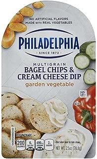 Philadelphia Garden Vegetable Bagel Chips and Cream Cheese Dip, 2.5 Ounce -- 10 per case.