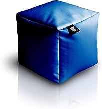 بين باج كرسي أو مخدة للقدمين أزرق داكن