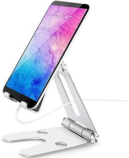 NPET スマホ スタンド ホルダー 角度調整可能 携帯電話スタンド 卓上 充電スタンド スマフォスタンド アイフォンデスク置き台 横縦置き 折り畳み式 アルミ 2020最新版 aluminium, Nintendo Switch 対応, アイフォン, アンドロイド, iPhone 11, 11 Pro , 11 Pro Max, 11 プロ マックス XS XS Max XR X 8 plus 7 7plus 6 6s 6plus 5 5s se se2 第二世代, Xiaomi Redmi Note 8 9 10 pro mi, huawei p20 p30 lite, Sony Xperia, Nexus, android,kindle,ゲーム機対応 ST10