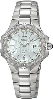 Seiko Women's SXDC33 Diamond Coutura White Dial Watch
