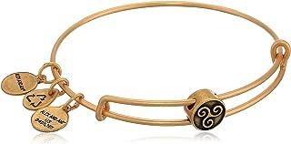 Alex and Ani Women's Triskelion Symbol Bead Charm Bangle, Rafaelian Gold