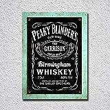 CDecor Peaky Blinder's Birmingham Whiskey Blechschilder,
