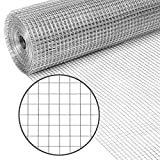 Best Choice Products 3x50ft Hardware Cloth, 1/2in 19-Gauge Galvanized Wire Fence, Double-Zinc Mesh Netting Roll, Welded Cage for Chicken Poultry Coop, Animal, Garden Protection