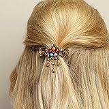 Haarschmuck Blumen Haarschmuck-Blumen Haarspange Rosegold Haarschmuck Hochzeit Haarklammer Diamante Haarkralle