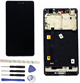 LCD Display Touch Screen Digitizer Assembly Replacemnt with Frame for Xiaomi Mi 4i Mi4i M4i Black