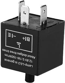 Terisass 3 Pin Adjustable 12V LED Light Flasher Blinker Relay Fix Electronic Relay for Turn Signal Indicator LED Hyper Fast Blink