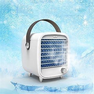Dbtxwd Refrigerador de Aire portátil Aire Acondicionado Personal con luz LED y Control de 3 velocidades para Oficina, hogar, Dormitorio, Mini Ventilador de Aire Acondicionado silencioso